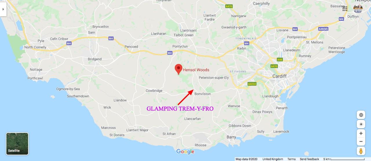 Cycling Map Glamping South Wales